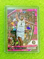 PATRICK WILLIAMS PINK ICE PRIZM ROOKIE CARD JERSEY #4 FSU RC BULLS SP 2020 Prizm