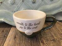 """Grasslands Roads Cup Mug """"Warmth To The Heart Joy ToThe Soul""""Celtic Valentine"""