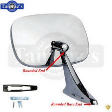 70-72 Chrome Rectangular Rear View Door Side Mirror & Hardware - L=R Legion EA