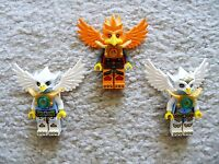 LEGO Chima - Rare - Lot of 3 Chima Minifigs w/ Wings - Excellent