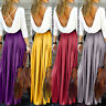 Women High Waist Elegant Dresses Pleated Backless Hollow Long Party Maxi Dress