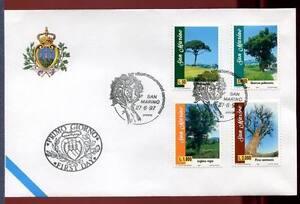 """32772) SAN MARINO 1997 FDC """"Uff. San Marino"""" Trees Alberi"""