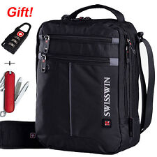 SWISSWIN Men's Shoulder Bag Messenger Bag Sports Travel Bag Gym Hikng Daypack