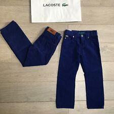 Entièrement neuf sans étiquette Lacoste Velours Jeans RRP £ 109 6y Boys & Lots Designer objets 100% Véritable