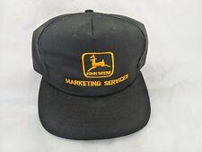 John Deere Snapback Hat Cap Black Marketing Services Made in USA