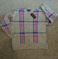 New Look maternity plaid/check jumper, small