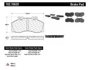 Disc Brake Pad Set-C-TEK Metallic Brake Pads Front,Rear Centric 102.10620
