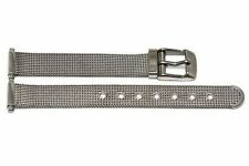 STAINLESS STEEL 12MM SILVER MESH VINTAGE BUCKLE WATCH BAND STRAP