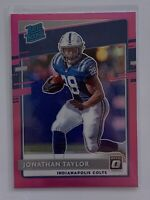 Jonathan Taylor 2020 Donruss Optic #167 Pink Holo Prizm Rated Rookie RC