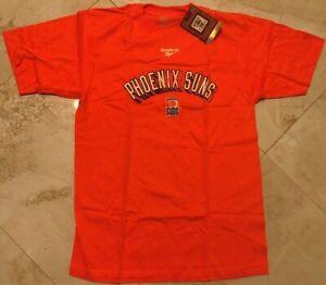 Phoenix Suns T-shirt Adult Small Orange Hardwood Classics Reebok NBA