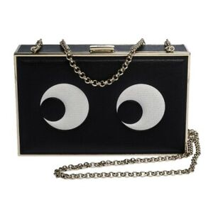 Anya Hindmarch Leather Imperial Eyes Box Chain Clutch