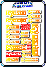 KYOSHO MODEL RC CAR DRONE BOAT BUGGY MINI Z STICKERS DECALS ROBOT R/C YEL/ORA W