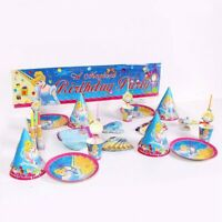 Cinderella Birthday Party Supplies Bag Disney Tableware Balloon Plates Cups