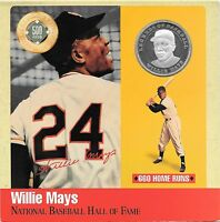 Rare .999 Silver Proof Willie Mays 500 Club Legends Of Baseball Cooperstown