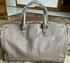 Hook & Albert Weekender Garment Duffle Bag Tan Saffiano Leather NWT