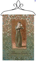 Willow Tree Peace on Earth Angel Holding Lamb Tapestry Bannerette Wall Hanging