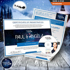 ? PERSONALISED NAME A STAR ? ROMANTIC CHRISTMAS GIFT SET FOR MEN & WOMEN ?!