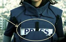 """Conflict War Theater TV NEWS MEDIA PRESS 11""""Reporter Patch for Ballistic Vest #7"""