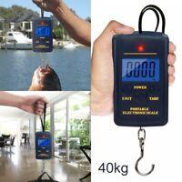 Balanza Bascula Digital de Mano Con Luz Pesa Maletas para Pesca Peso 40 kg