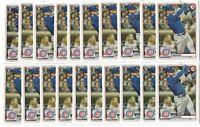x50 NICO HOERNER 2020 Bowman #72 Rookie Card RC logo lot/set Chicago Cubs Invest