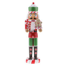 Christmas Decor Ornaments Wooden Nutcracker Figurine Puppet Doll Toy Gift C