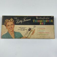 Vintage 1950's Betty Furness Westinghouse Thermometer Set Candy & Meat with Box