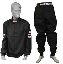 DRAG RACING FIRE SUIT JACKET & PANTS 1 LAYER  SFI 1 RACE SUIT SFI 3-2A/1 LARGE