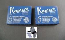 KAWECO Cartuchos 2 paquetes tinta azul real NUEVO #
