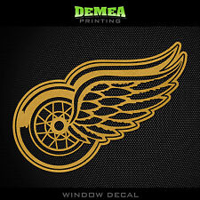 Detroit Red Wings -  Gold Vinyl Sticker Decal 5""