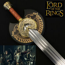 Lord of the Rings King Theoden Rohan Herugrim Sword & wooden plaque