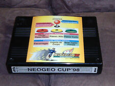 Snk (Original Usa) Neo Geo Mvs Neo Geo Cup '98 Game Cartridge + Spanish Marqee