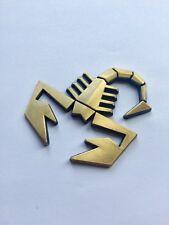 BRUSHED GOLD 3D Scorpion Car Sticker Badge Emblem Decal UK SELLER