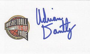 Adrian Dantley NBA Hall of Fame Utah Jazz HOF 6x AS SIGNED 3x5 CARD AUTOGRAPHED