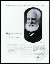 1947 Alexander Graham Bell photo AT&T Bell Telephone vintage print ad