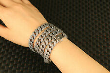 chinese  solid s925 silver big 152g necklace / bracelet