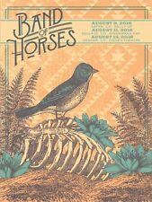 BAND OF HORSES Aspen, Boulder, Denver Colorado Run 2016 Concert 18x24 Gig Poster