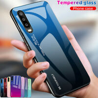 For Huawei P30 Pro P20 Lite Mate 20 Mate 10 Gradient Tempered GLASS Case Cover