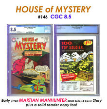 HOUSE OF MYSTERY # 146 CGC 8.5 SCARCE on CENSUS + READER! COOL solo J'ONN J'ONZZ