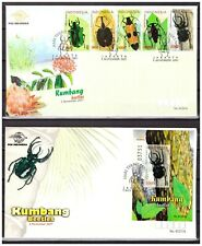 Indonesia 2001 FDC Beetle Beetles Insects Spider + S/S