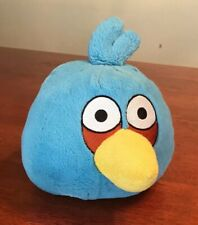 "COMMONWEALTH / ROVIO Soft Stuffed ANGRY BIRDS 7"" Plush/Pillow Blue *No Sound"