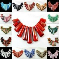 Natural Gemstone Graduated Pendant Stick Beads Set For Necklace Jewelry Design