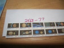 US stamp Scott 2568-77 strip of 10 stamps, MNH space pictures