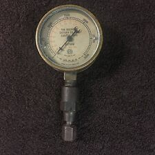 Vtg Brass Pressure Gauge US GAUGE CO NY Convex Glass Buckeye Oxygen Canton Oh.