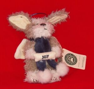 """Boyds Bears Plush - Biscuit B Beggar Dog JOY ornament 6"""" - with tags"""