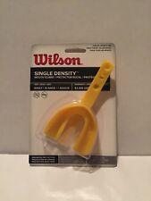 Wilson Single Density Mouthguard Strap Yellow Adult Football Hockey Sports New