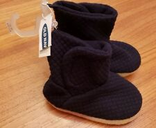NWT Old Navy Toddler Boys 5-6 Quilted Jersey Bootie Slippers NAVY BLUE #15419