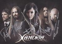 Xandria - dt. Metal-Band, Original-Autogramm!
