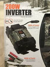 Realtree Xtra 200W Inverter Dual AC Outlets, USB Port, 10012