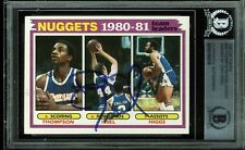 Nuggets Dan Issel Authentic Signed Card 1981 Topps #49 Autographed BAS Slabbed