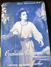 Orientacion Vocacional Spanish Text Vocational Orientation 1962 Imprimatur PB
